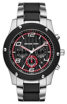 MICHAEL Michael Kors 'Caine' Chronograph Bracelet Watch, 45mm available at #Nordstrom