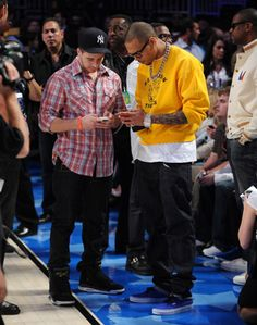 Chris Brown exchange digits with Lewis Hamilton wearing Vans Authentic  Royal White 1a4fd78918