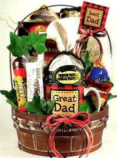 A Great Dad Gift Basket  $72.00