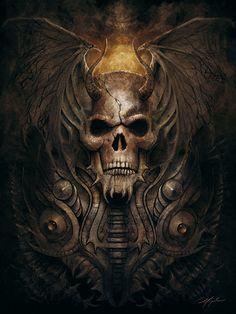 * Winged Skull  by *yigitkoroglu*