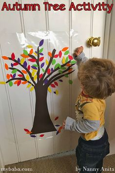 sticky autumn tree activity for toddlers and children. Sponsored Sponsored sticky autumn tree activity for toddlers and children. Autumn Crafts, Fall Crafts For Kids, Autumn Art, Autumn Trees, Toddler Crafts, Art For Kids, Daycare Crafts, Fall Activities For Toddlers, Seasons Activities