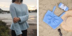 Part Crochet Stonewash Pocket Coatigan - free pattern + video tutorial - for the frills Gilet Crochet, Crochet Ruffle, Crochet Coat, Crochet Cardigan Pattern, Crochet Crop Top, Chunky Crochet, Cotton Crochet, Easy Crochet, Crochet Patterns