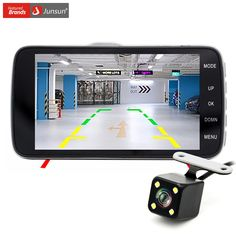 """Junsun 4.0"""" Car DVR Camera Dual Lens with LDWS ADAS Rear view Support Front Car Distance warning Full HD 1080P car dvrs dashcam //Price: $67.99 & FREE Worldwide Shipping //     #accessories"""