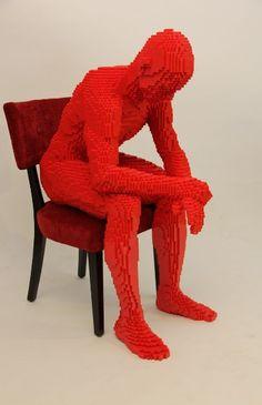 Lifesize Lego Sculptures // Avant Gallery