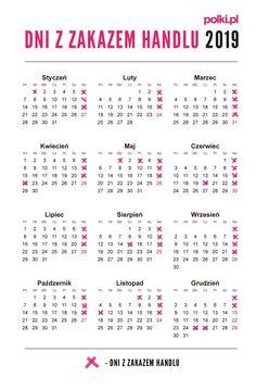 Niedziele z handlem i bez handlu 2019 - kalendarz Everything, Life Hacks, Bullet Journal, Printables, Quotes, Organization, Quotations, Print Templates, Quote