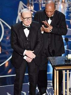 The Oscars Moments Everyone Can't Stop Talking About | ENNIO MORRICONE BECAME THE OLDEST OSCAR WINNER EVER | At 87, he took home his first ever non-honorary Academy Award, after six nominations since 1979.