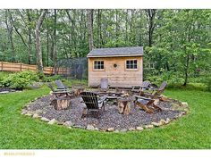 Beautiful Well Landscaped Outdoor Fire Pit U0026 Seating Area I Like The Stone.