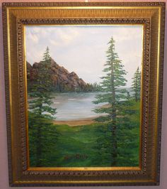Whispering pines nature original oil painting signed N McCafferty size 16x20  150.00 http://www.ebay.com/itm/Whispering-pines-nature-original-oil-painting-signed-N-McCafferty-size-16x20-/231485068341?