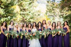 Purple Bridesmaid Dresses| Vail Mountain Wedding | COUTUREcolorado WEDDING: colorado wedding blog + resource guide