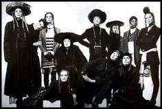 1993-94 - Jean Paul Gaultier collection by Steven Klein - Nadja Auermann, Nadege, Amber Valetta, Kirsten Mc Menamy, Linda Evangelista, Shalom Harlow,Naomi Campbell, CHristy Turlington & male models