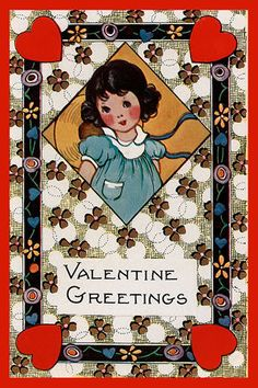 Olde America Antiques | Quilt Blocks | National Parks | Bozeman Montana : Valentine - Valentine Greetings