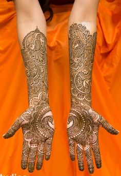 Love the arms, palms not so much Bridal Henna Designs, Henna Tattoo Designs, Mehendhi Designs, Henna Ink, Heena Design, Mehndi Simple, Henna Party, Beautiful Henna Designs, Mehndi Images