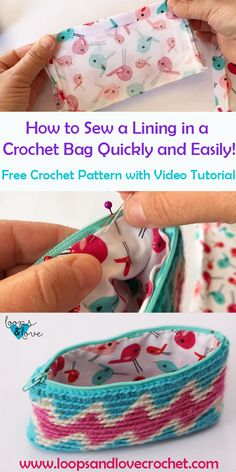Crochet Patterns This tapestry crochet bag pattern includes tutorials (written and video) for sewing a lining inside a crochet bag. Check out this free crochet pattern and tutorials! Pattern by Loops and Love Crochet. Crochet Handbags, Crochet Purses, Crochet Bags, Crochet Clutch Bags, Free Crochet Bag, Crochet Pouch, Crochet Baskets, Crochet Food, Crochet Animals