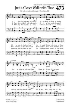 Just A Closer Walk With Thee. Baptist Hymnal 2008 page 648 Hymns Of Praise, Praise Songs, Worship Songs, Gospel Music, Music Lyrics, Music Songs, Gospel Lyrics, Church Songs, Church Music