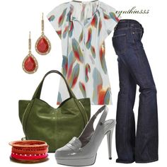 Feather Top, created by cynthia335 on Polyvore