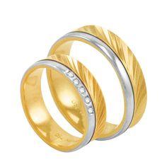Par de Alianças em Ouro 18K com Diamantes - AU2568   Bruna Tessaro Joias -  brunatessaro e565a56735