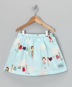 Light Blue Laundry Day Skirt - Toddler & Girls - Made in the USA by Sweet Petunia