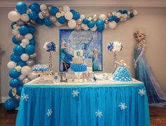 healthy meals for dinner easy meals ideas free Frozen Balloon Decorations, Frozen Birthday Decorations, Frozen Balloons, Frozen Themed Birthday Party, Disney Frozen Birthday, Birthday Parties, Frozen Backdrop, Candy Bar Frozen, Festa Frozen Fever