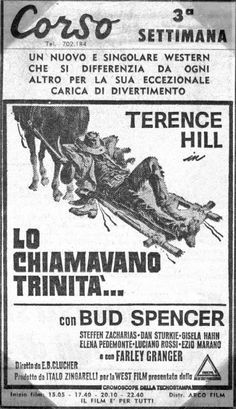 "Original Italian Movie Poster of "" Lo Chiamavano Trinità "" - 1970"