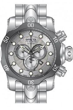 Relógio Invicta Venom Chronograph Silver Dial Stainless Steel Mens Watch 13887 #Relogios #Invicta
