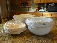 We love these bowl covers. One size easily covers bowls from small 2 quart to very large 5 quart. Creates a snug fit over your proofing basket to prevent dough from drying out during proofing and also allowing space for the dough to rise high.