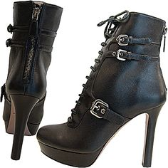 I'd wear these w black skinny jeans a white Tee and a gray cropped shearling jacket. Winter casual/rock chic!!