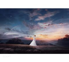 #nancyavon from www.bit.ly/jomfacial Sharing a light moment with your love dear! Bride at sunset by onuruzay