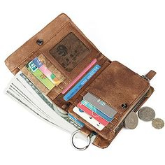 Ruil Retro casual burnish leather Wallets Q019 Ruil…