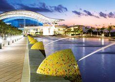 "Convention Centre - San Juan, Puerto Rico - Custom #mix #vitreo (2 x 2 cm ∙ 3/4"" x 3/4"")  #trend #green #mosaic #conventioncentre"