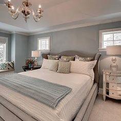 bedroom tray ceiling, tray ceiling bedroom, blue walls, blue bedroom ...