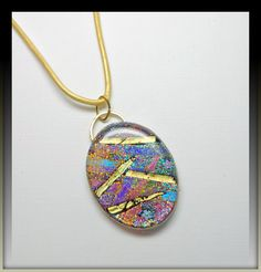 New Years SALE polymer clay Faux Dichroic Statement by BeadazzleMe, $22.00