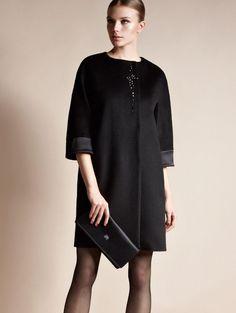 Пальто чёрное с вышивкой камнями. Индивидуальный пошив в интернет-ателье Namaha3D www.livemaster.ru/namaha