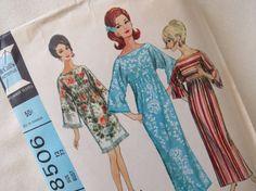 1960s MuuMuu Robe Dress  Vintage Pattern McCall's by ErikawithaK, $7.00