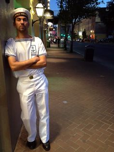 Street Photoeaux -- Style on The Spot: NOLA Navy Week in the French Quarter -- Thibault Liard of the French Navy