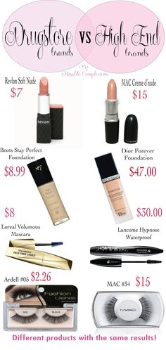 Look-a-like Makeup! They are the same but look at the prices!