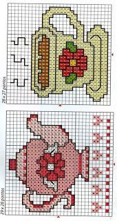 HOBİLEMECE: Fincan, Çaydanlık Şemaları Cross Stitch Patterns, Crochet Patterns, C2c, String Art, Plastic Canvas, Needlework, Kids Rugs, Diy Crafts, Crafty