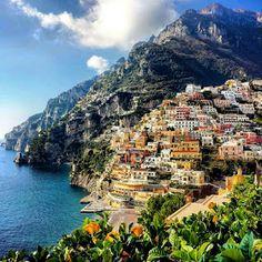 POSITANO: Hotels on The Amalfi Coast Positano Amalfi Coast Positano, Positano Hotels, Positano Italy, Naples Italy, Isle Of Capri, Path Of The Gods, Italy Spain, Great Hotel, Day Tours