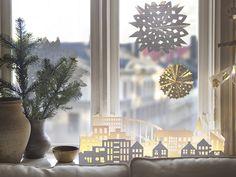 Cadeauverpakking | #IKEA #kerst #decoratie #raamhanger #papier #cadeau #goud