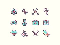 Hello, Dribbble! Thanks a lot @Dobrina A. ( https://dribbble.com/dobrina ) for inviting me :) This is my first shot — Free medical icons. Watch and appreciate all icons on Behance: www.be.net/galle...