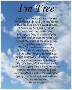 I'm Free Memorial Poem Birthday Mothers Day Funeral Christmas Gift Present in Home, Furniture & DIY, Celebrations & Occasions, Other Celebrations & Occasions Brother Quotes, Dad Quotes, Life Quotes, Eulogy Quotes, Dad In Heaven Quotes, Mom Poems, Mother Poems, Poems About Mothers, Loss Of Mother Poem