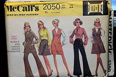Vintage McCall's Pattern 2050 Size 14 Bust 36 - Misses' And Junior Petite Separates McCall's Mccalls Patterns, Mccalls Sewing Patterns, Vintage Sewing Patterns, Hipster Fashion, Boho Fashion, Hipster Style, 1960s Fashion, Fashion Clothes, Teen Fashion
