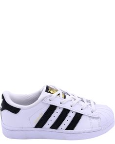 e5fee68f76930 Adidas Kids Superstar Foundation EL C Sneaker White/Black/White 1 M US  Little
