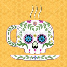 i really want this for my kitchen. sugar skull tea cup