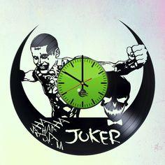 JOKER HANDMADE VINYL RECORD WALL CLOCK