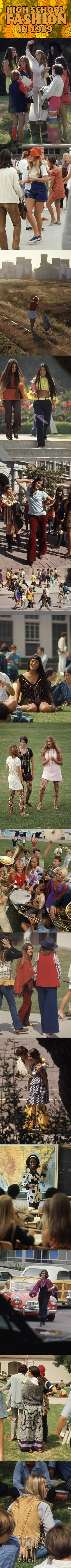 High School Fashion In 1969… I love this so much! Officially adopting the 60's/70's style.