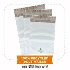 Earthfriendly workplace hacks  When we cant reuse we try to buy mailing items made from recycled or recyclable materials!