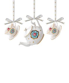 Another great find on #zulily! Teapot & Teacup Ornament Set by Royal Albert #zulilyfinds