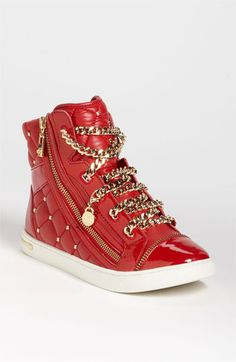 holy crap these michael kors are awesome  MICHAEL Michael Kors 'Urban Chain' High Top Sneaker | Nordstrom
