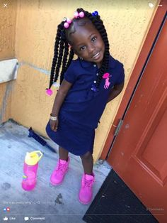 Little Black girls' 40 Braided Hairstyles – New Natural Hairstyles Black Baby Girls, Cute Black Babies, Beautiful Black Babies, Cute Little Girls, Beautiful Children, Cute Kids, Cute Babies, Brown Babies, Fashion Kids