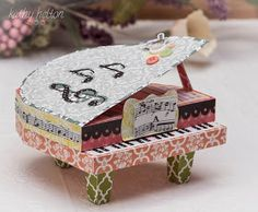 My first piano from the Thank You For the Music kit from SVG Cuts.  I used the Victoria Gardens Echo Park paper.